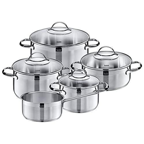 Silit Achat Batería De Cocina (5 Piezas), Acero Inoxidable Pulido, 5-Teilig