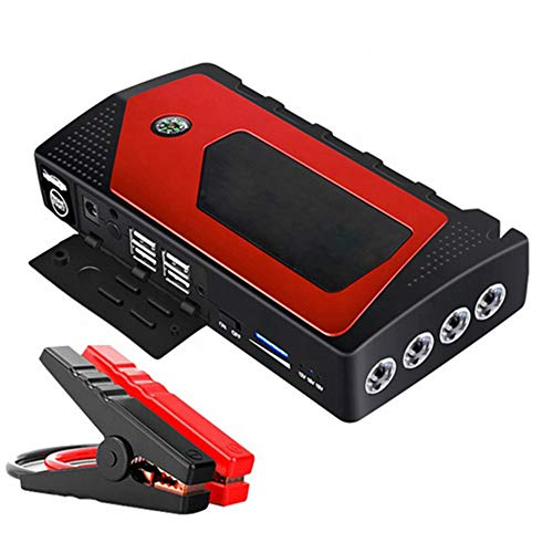 HSART Portable Car Lithium Jump Starter 12V Auto Battery Booster 18000Mah Phone Charger Power Pack Supersafe Long Standby with Smart Jumper Cables for Truck SUV Boat