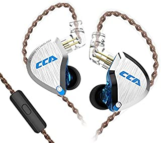 $41 » CCA C12 Hybrid Drivers in Ear Monitors Earphones 5BA 1DD High Resolution Wired Earphones HiFi Stereo IEM with Microphone Gift Set for Workout Gym Audio Stage Musician DJ Game (Blue with mic)