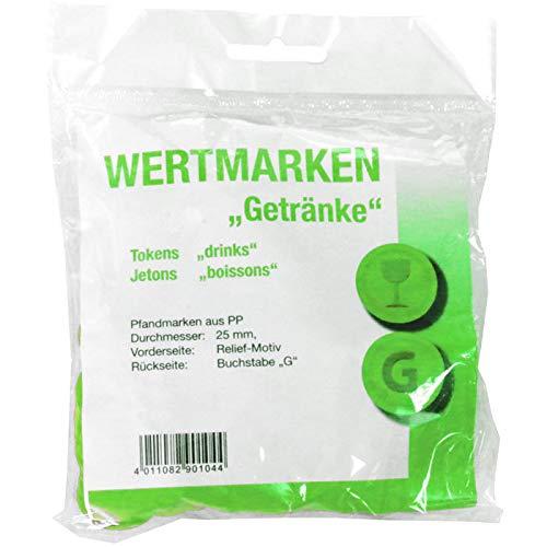 PARTY DISCOUNT® Wertmarken-Chips Getränke, grün, 100 STK.