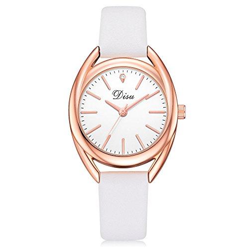 Darringls_Reloj DISU DS069,Reloj de Cuarzo de aleación analógico Casual para Mujer Hombre Unisex Retro Relojes para Unisex Reloj de Pulsera Elegante