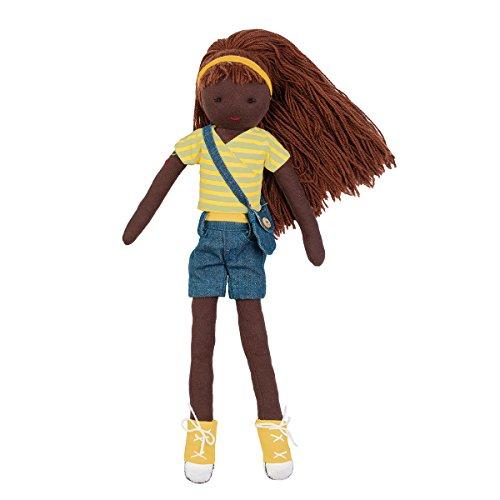 Hoppa Puppe Emily, Stoffpuppe mit Kleidung und Haaren, Kinderspeile ab 10 Monate - 30 cm