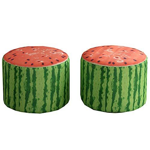 KCBYSS Taburete Bajo De 2 Piezas Cute Fruit, Taburete Creativo para Cambiar El Hogar Taburete PequeñO Y Bonito para NiñOs, Adecuado para Bancos PequeñOs En La Entrada Al Dormitorio Y Sala De Estar