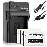 3X Baterìas + Cargador (Coche/Corriente) NP-BY1 NPBY1 Compatible con Sony HD Action CAM Mini AZ1 con Wi-Fi/HDR-AZ1 (Kit), HDR-AZ1VR