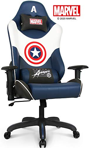 NEO CHAIR - RAP Gaming Chair Super Premium Faux Leather Marvel Avengers Big & Tall Heavy Duty Office Chair, Blue (Captain America)