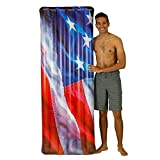 Poolcandy Stars & Stripes Photo RealPrint Deluxe 74' - American Flag Raft - Show Your American Spirit with This Deluxe Pool Float