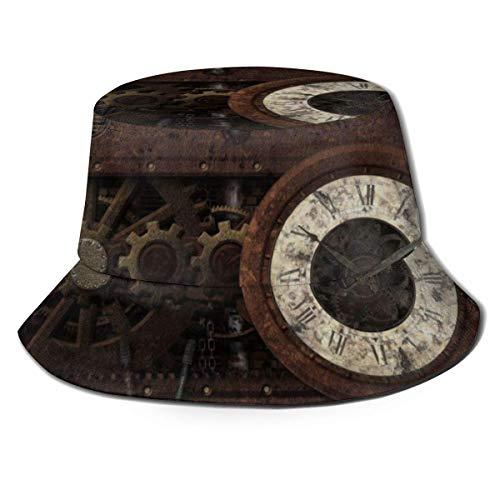 Gorra de Cubo, Sombrero de Sol Unisex, Gorra de Pescador, Gorra Lisa Informal, Sombrero de Playa, Sombrero Boonie, Sombreros de Pesca Steam Punk de Equipo Vintage