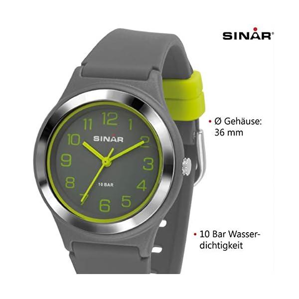Sinar – Reloj deportivo de pulsera para niños, analógico, mecanismo