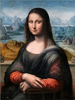 Posterlounge Lienzo 50 x 70 cm: Mona Lisa from The Prado de Francesco Melzi - Cuadro Terminado, Cuadro sobre Bastidor, lámina terminada sobre Lienzo auténtico, impresión en Lienzo
