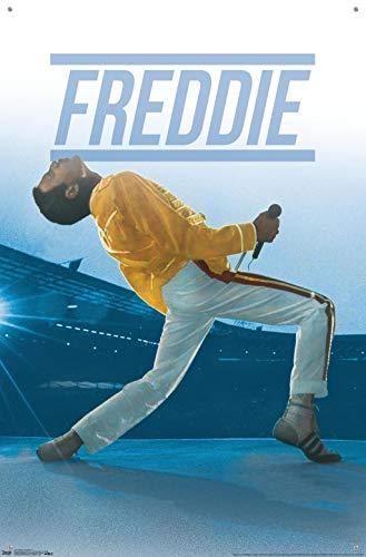Queen - Póster de Freddie Mercury Live con chinchetas
