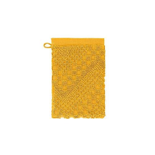 Garnier Thiebaut Gant de Toilette, Coton, Curry, 21x15 cm