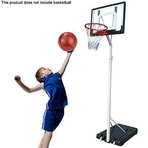 145-260Cm Supporto da Basket Regolabile con Ruote, Sistema di Rete da Basket Portatile con Telaio per Tabellone per Interni Ed Esterni