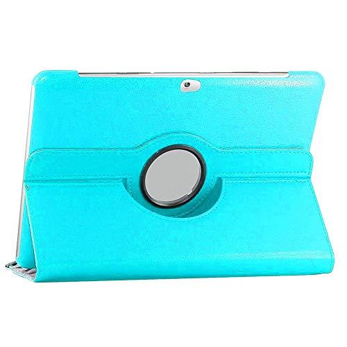 ebestStar - kompatibel mit Samsung Galaxy Tab 2 10.1 Hülle GT-P5110 P5100 Rotierend Schutzhülle Etui, Schutz Hülle Ständer, Rotating Hülle Cover Stand, Blau [Tab: 256.6 x 175.3 x 9.7mm, 10.1'']