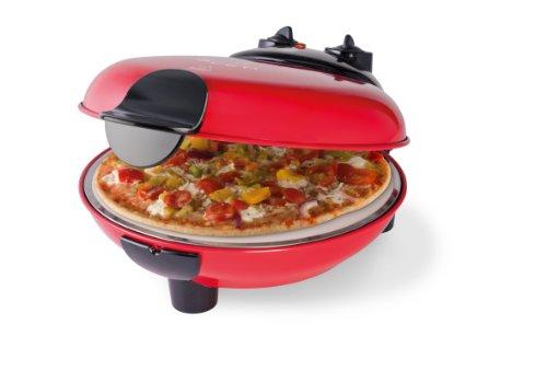 Trebs 99229 - Horno de sobremesa para pizzas con campana de terracota