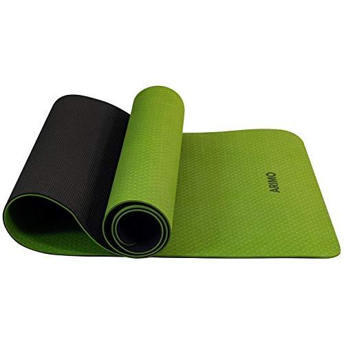 ARIMO Tapete Yoga Mat Antiderrapante TPE Ecológico Biodegradável Todos Os Tipos de Yoga/Pilates 181 x 61 cm x 6 mm (Verde Claro)