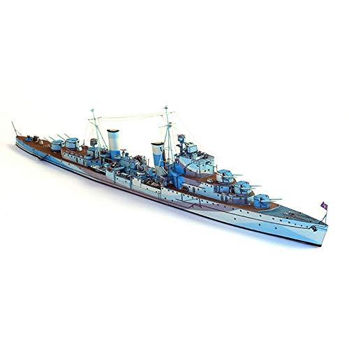 ELVVT 1: 400 britische Sirius Flak-Kreuzer-Modell Warship DIY Hoch Schwierigkeit Handgemachte Versammlung Origami-Modell-Spielzeug Geburtstag Dekoration Geschenke for Militär Fans Kind Erwachsene