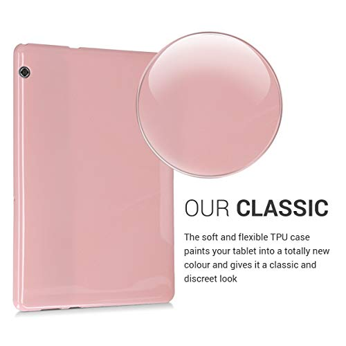 kwmobile Hülle kompatibel mit Huawei MediaPad T5 10 - Silikon Tablet Cover Case Schutzhülle Altrosa