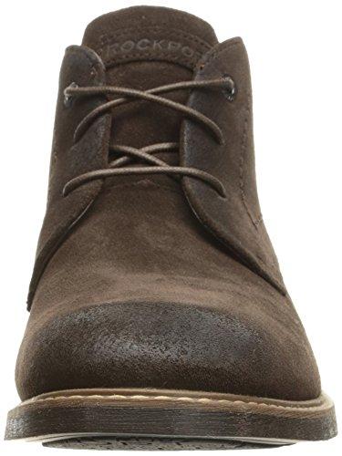 Rockport Men's Classic Break Chukka Boot- Dark Bitter Chocolate Suede-7 M