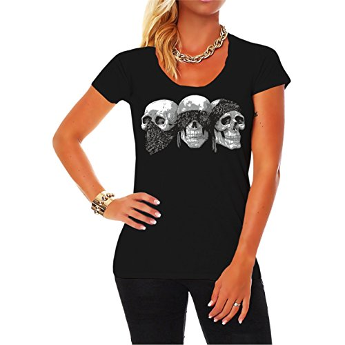 Frauen und Damen T-Shirt So viele Arschlöcher und nur eine Sense (mit Rückendruck)