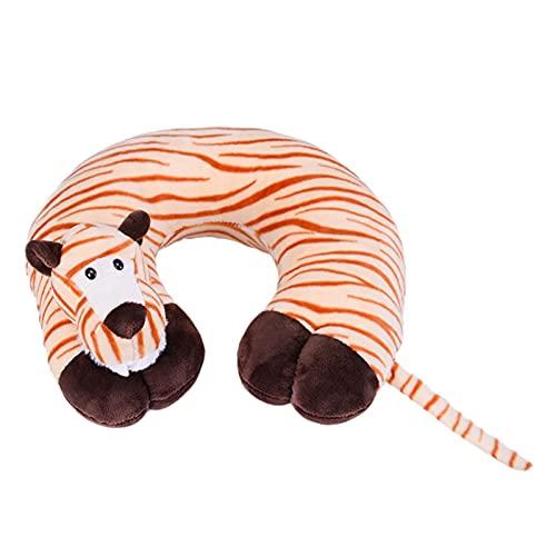 YANLINMY Almohada de Viaje Almohada de Cuello en Forma de Soporte de cojín en Forma para Almohadas de Viaje de Cuello de Cabeza (Color : Brown Tiger)