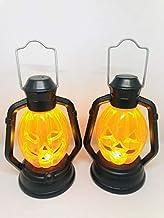 Mini Lampião Em Led Abóbora Enfeite Halloween