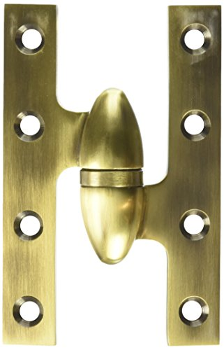 Deltana OK5032B5-R Solid Brass 5-Inch x 3 1/4-Inch Olive Knuckle Hinge