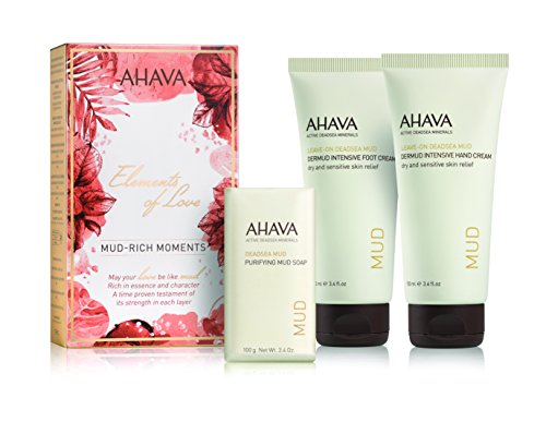 AHAVA Mud Rich Moments femme/woman Geschenkset (Füßcreme, Handcreme, Seife)