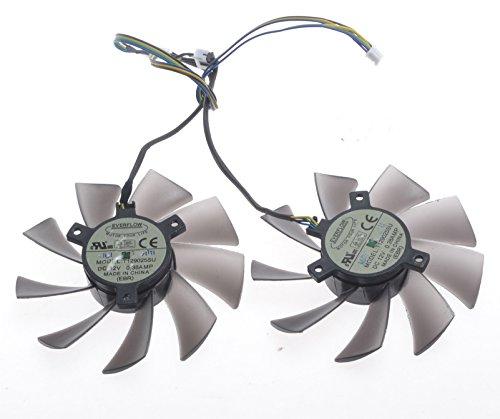 2 Pcs/lot T129025SU Grafikkartenlüfter For R9-290X R9-280X R9-270X R7-260X GAMING Graphics Card Fan