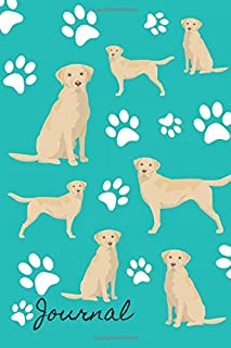 Journal: Anxiety Journal and Coloring Book 6x9 90 Pages Positive Affirmations Mandala Coloring Book - Yellow Labrador Retriever Dog Cover
