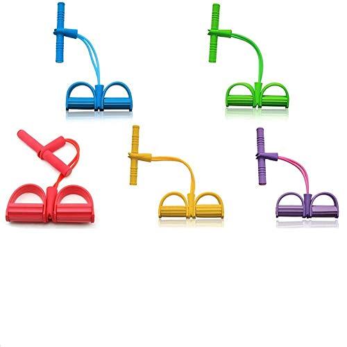 Cuerda de tensión Multifuncional Fitness Pedal Ejercitador Cuerda Pull Bands Yoga Fitness Foot Pedal Pull Ropes, para Equipos de Gimnasio en casa (Verde)