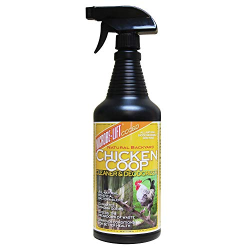 Chicken Coop Spray, Coop Cleaner & Deodorizer – Odor Control & Smell Eliminator, Healthy Pen Disinfectant, Nesting & Bedding Refresher, Chicken Coop Accessories, Flock Safe Cleaning Supplies, 32 Fl Oz