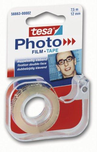 tesa Handabroller mit doppelseitigem Klebefilm für Photos
