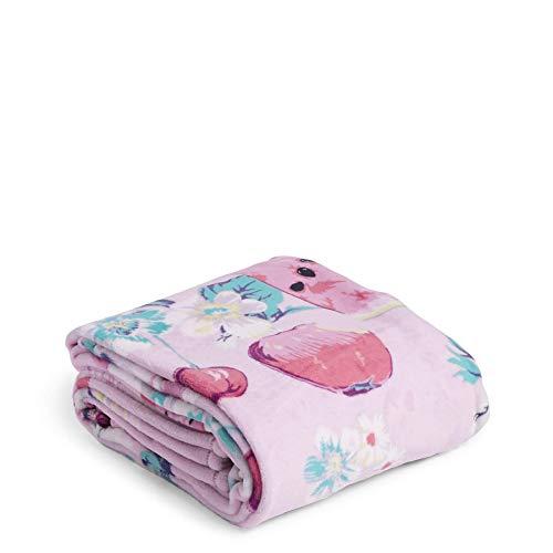 Vera Bradley Fleece Plush Throw Blanket, Rosy Garden Picnic