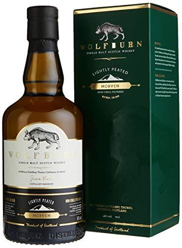 Wolfburn MORVEN Lightly Peated Single Malt Scotch Whisky mit Geschenkverpackung (1 x 0.7 l)