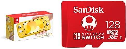 Nintendo Switch Omaha Mall Lite - Yellow UHS-I SanDisk online shopping MicroSDXC 128GB with
