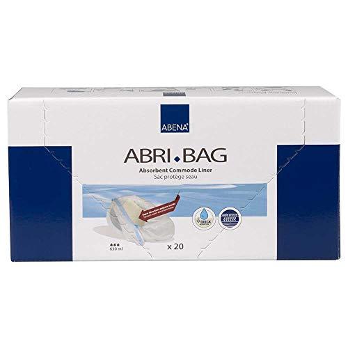 NRS Healthcare Abri-Bag Einweg Toilettenstuhl Einlagen Beutel, 20 Stück