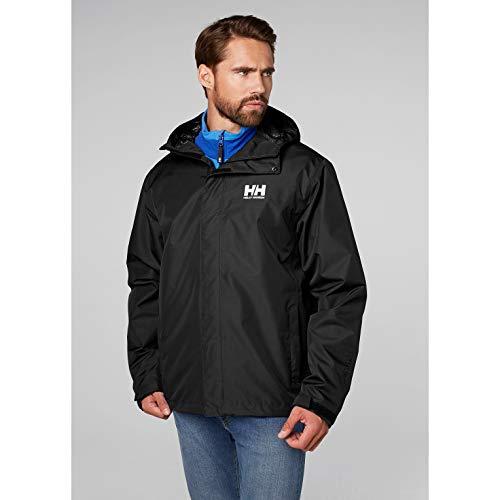 Helly Hansen Men's Seven J Waterproof Windproof Breathable Rain Jacket, 992 Black, X-Large