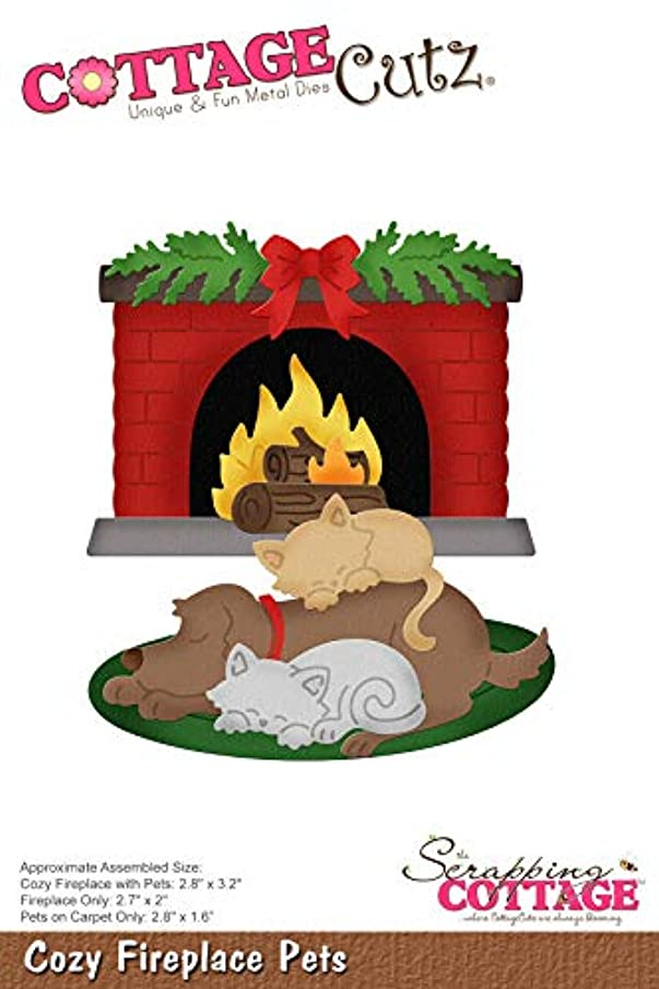 CottageCutz CC493 Dies-Fireplace Pets 1.6