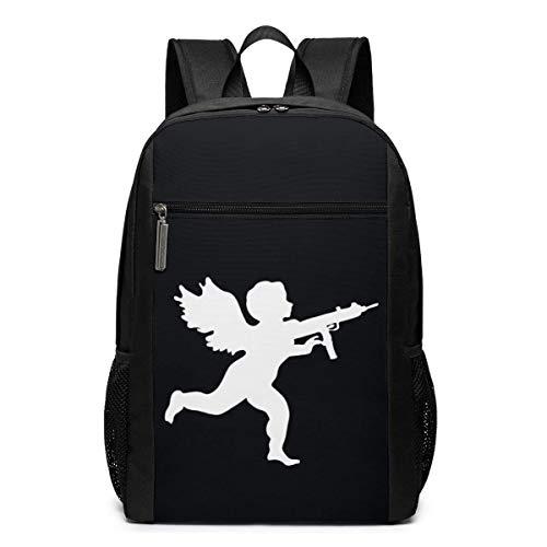 Qfunny Vanille EIS Cupid Logo Schultasche Reiserucksack 17 Zoll Laptoptasche
