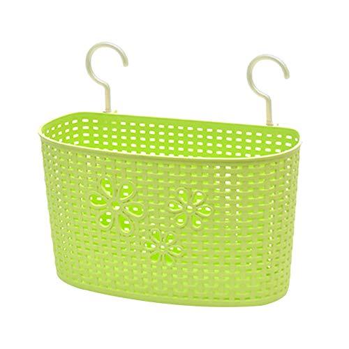 Weimay - Cesta colgante de plástico, para cocina, baño, almacenamiento, gel de ducha, champú, lavado, lavabo, cesta colgante, jabón, cesta de desagüe