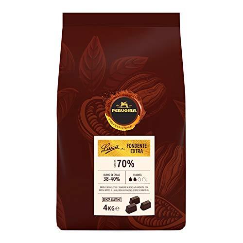 Perugina Professionale Cioccolato Fondente Extra Luisa 70% Cubetti, 4 kg