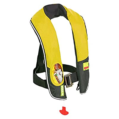 Eyson Inflatable Life Jacket Life Vest Highly Visible Automatic (716Yellow)