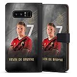 DeinDesign Klapphülle kompatibel mit Samsung Galaxy Note 8 Duos Handyhülle aus Leder schwarz Flip Hülle RBFA Fußballspieler Offizielles Lizenzprodukt