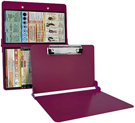Wine Folding Nursing Clipboard Premium Aluminum Nurse Clipboard Foldable Nurses Folding Board product image