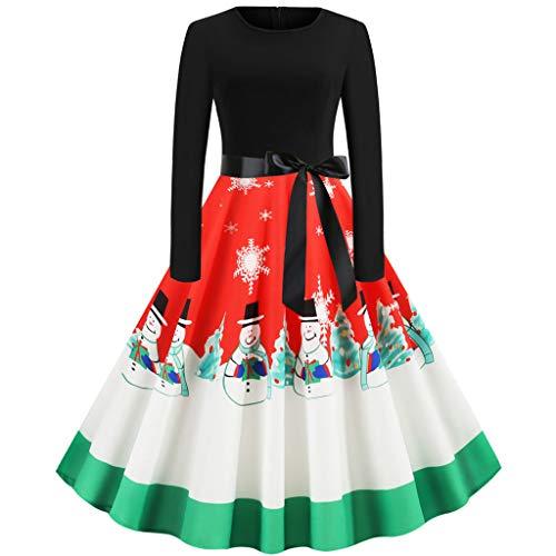 Vestido de Fiesta para Mujer, de Noche, de cóctel, de Navidad, Elegante, de Manga Larga, con Pliegues, para Fiestas, Carnaval o Fiestas de Navidad Rotb. XL