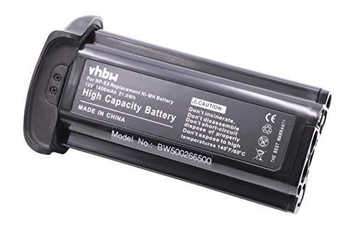 vhbw Ni-MH Batterie 1800mAH (12V) Compatible pour Canon remplace NP-E3.
