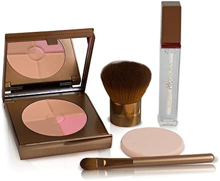 Magic Minerals All-In-One Powder Foundation, Face Powder with Stubby Brush by Jerome Alexander