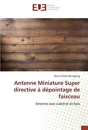 Antenne Miniature Super directive à dépointage de faisceau: Antenne avec substrat en bois (OMN.UNIV.EUROP.)