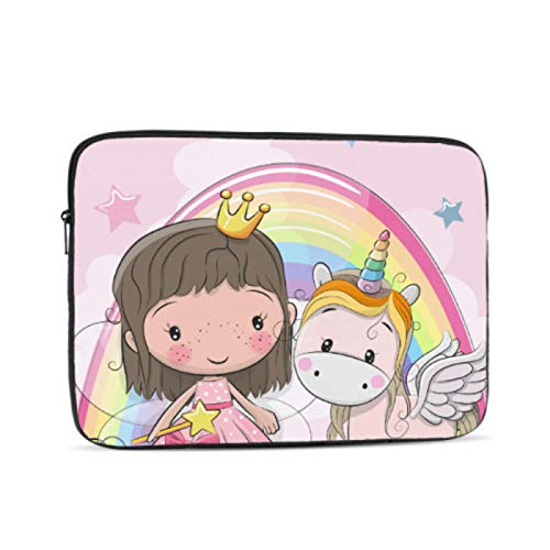 Hard Laptop Cases Little Unicorn with Princess Girl Mac Book Pro Case Multi-Color & Size Choices10/12/13/15/17 Inch Computer Tablet Briefcase Carrying Bag