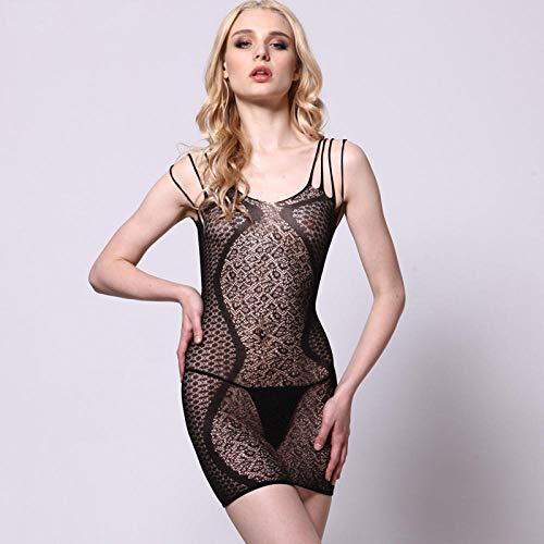 FPXNBONE Nachthemd Ausschnitt Lingerie Transparente,Damen sexy Dessous, Einteilige sexy Strümpfe, undichte Uniformen Versuchung,Unterwäsche erotisch Weinachts Lingerie